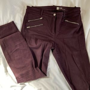 Maroon high Waisted Work Pants Gap Size 14 R